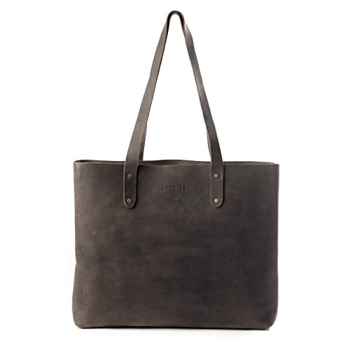 Tote Love Leather - Love 41 Simple Large Leather Tote Bag for Women Includes 41 Year Warranty