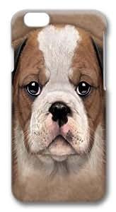 Bulldog Puppy Custom iphone 6 plus 5.5 inch Case Cover Polycarbonate 3D
