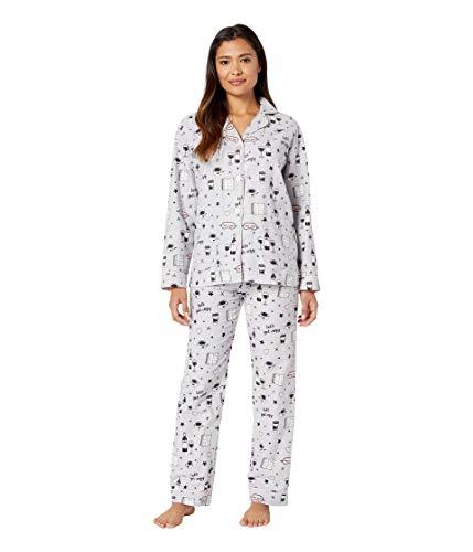P.J. Salvage Women's Let's Get Cozy PJ Set Light Grey Small