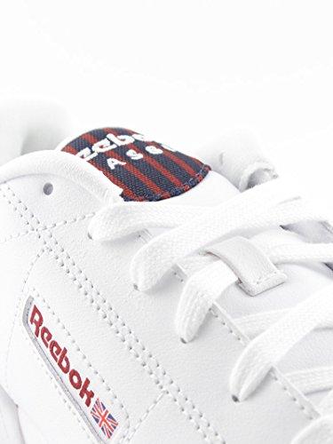 Reebok , Jungen Sneaker Weiß Blanco-Granate 37