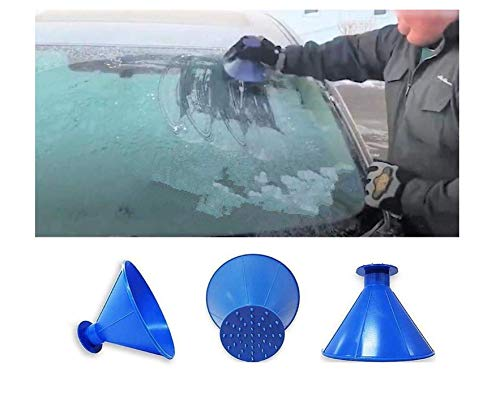 Ice Scraper for Cars Durable and Stable Professional Ice Scraper Windshield Scraper Effortlessly Scratches Frost and Ice from Windscreens Nabati Round Magic Cone Ice Scraper