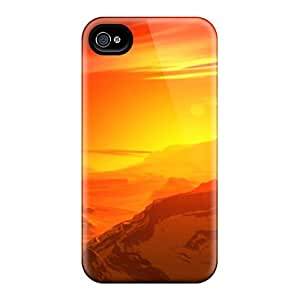 Premium Reddish Sunset Back Cover Snap On Case For Iphone 4/4s