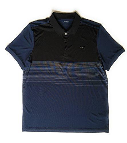 Calvin Klein Men's Performance Striped Polo Shirt, Blue, Size - Calvin Klein Striped Shirt Polo