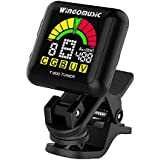 WINGO Rechargeable Chromatic Clip-on Tuner for Acousitc& Electric Guitar, Bass, Ukulele and Violin, Muliti Tuning Modes for all Stringed Instruments