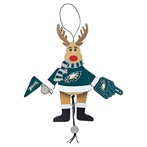 (NFL Philadelphia Eagles Wooden Cheer Ornament)
