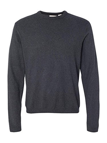 Weatherproof 151325 Men's Vintage Cotton Cashmere Crewneck Sweater Charcoal Heather (Heather Cashmere Crewneck Sweater)