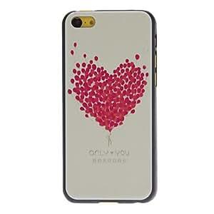 compra Diseñado globo en forma de corazón caja dura Fresh Rose Patrón para iPhone 5C