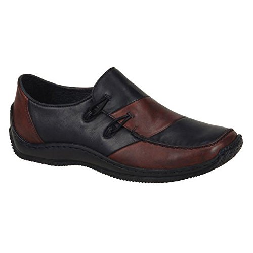 Rieker L1762 Celia Wine/Black