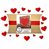 Heart string art craft kit for kids. Do it yourself string art heart art project for adults, tweens and kids 9 and up. By Nail it Art. A perfect make it yourself gift for Mother's Day from the kids.