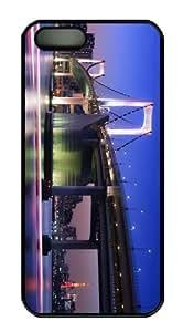 case mate case rainbow bridge tokyo PC Black Case for iphone 5/5S