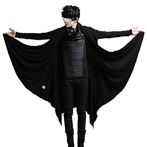 Men Awesome Vintage Stylish Cape Cardigan Loose Gothic Punk Casual T-shirt Coat.We do suggest to refer to the specific size chart to choose the size,Thanks.Item Measurement By Handmade,It is Maybe 2cm-3cm Difference,It's Nomal.Only the T-shirt,others...