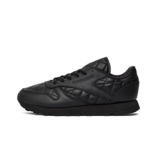 Cl Leather Donna Sneaker Reebok Scarpe Quilted Black pat4FqFx