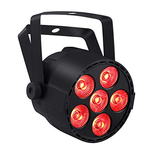 LED Par Lights, YeeSite 24W 6LEDs RGBW Stage Wash Lights by DMX and Remote Control for Church Wedding Stage Lighting Halloween Christmas Party]()