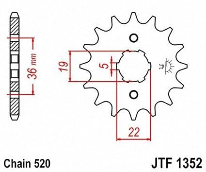 JT Sprockets JTF1352.14 14T Steel Front Sprocket