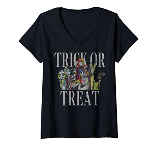 Womens Disney Villains Trick Or Treat V-Neck T-Shirt