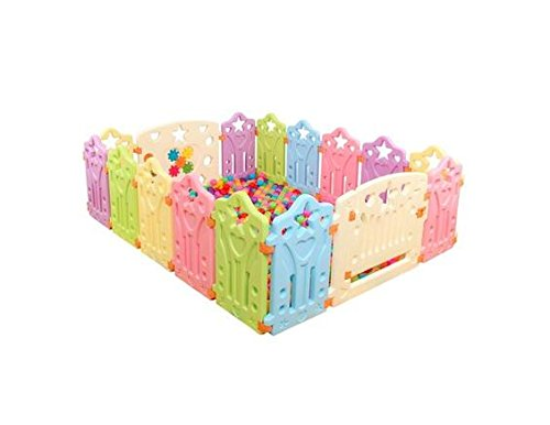Vogvigo Baby Playpens Children Kids Place Fence Environmental Protection Barrier Game Fence EP Safety Play Yard (8 pcs)