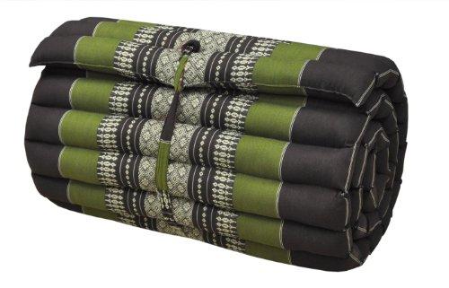 Thai mattress small size (55/180), brown/green, relaxation, beach cushion, pool, meditation, yoga (82013) by Wilai GmbH