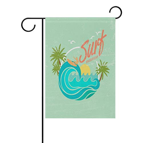 NgkagluxCap Decorative Summer Surf Garden Flag Colorful Spring Summer Blooms Double Sided 28'' X 40''