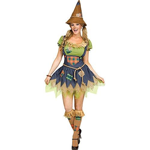 Fun World Women's Scarecrow, Multi, S/M Size 2-8