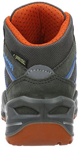 Lowa Simon Ii Gtx Qc, Zapatos de High Rise Senderismo Unisex Niños Gris (graphit/orange)