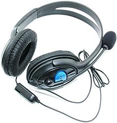 booEy Gaming Headset für Playstation 4 PS4 Kopfhörer mit Mikrofon