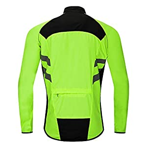 WOSAWE Cycling Jacket MTB Windproof Waterproof Lightweight Coat with Reflective Strip for Motorbike Racing Riding