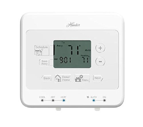 Hunter 44279 - 5/1/1-Day Digital Programmable Thermostat (Home Thermostat, AC, Heat) - Hunter Fan Thermostats