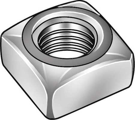 5/16''-18 Stainless Steel Plain Finish Square Nut - Regular, 25 pk, (Pack of 3) by FABORY