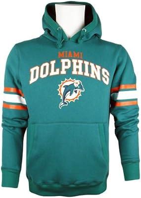 Majestic de fútbol americano Miami Dolphins NFL Jersey-camiseta sudadera con capucha, color , tamaño extra-large