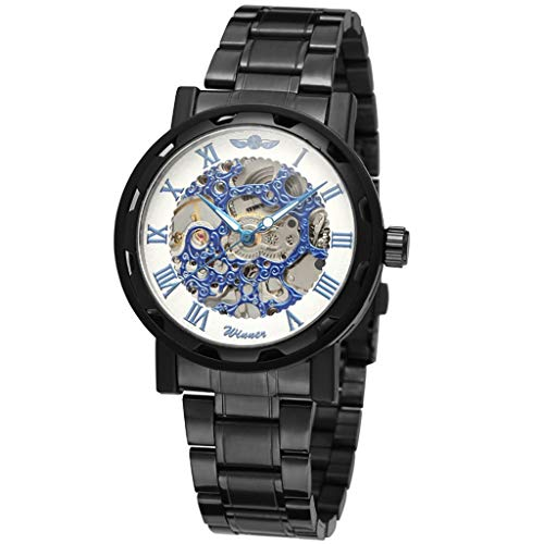 LUCAMORE Luxury Mechanical Watch for Men, Waterproof Wrist Watch Stainless Steel Fashion Wristwatches, Business Style, ()