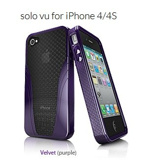 iSkin Solo Vu Case for iPhone 4S - Retail Packaging - Purple ()