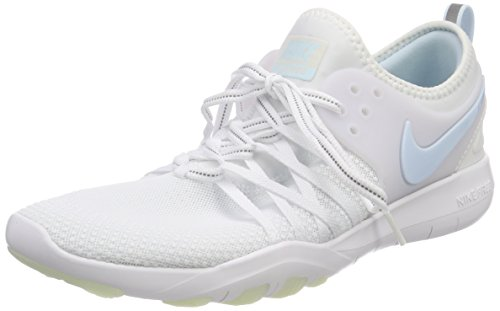 Nike Women's WMNS Free Tr 7 Reflect Trainers (8.5 M US, White (White/Glacier Blue 100)