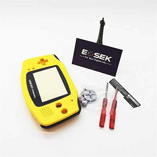 EXSEK Limited Yellow Edition GBA Housing Shell Replacement Pack Compatible with Gameboy Advance (Yellow)