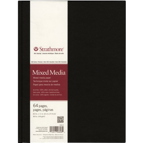Strathmore 566-8 500 Series Hardbound Mixed Media Art Journal, 8.5''x11'' 32 Sheets by Strathmore