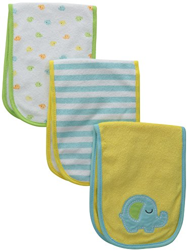(Gerber Unisex-Baby Terry Burp Cloths, Elephant, One Size (Pack of 3))