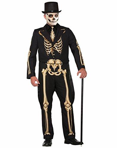 Mens Halloween Suits (Forum Men's Skeleton Suit Formal Attire with Jacket and Pants, Black/White, M)