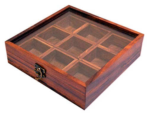 Wood Indian - Spice Box - Sheesham Wood Spice Box Container - Spice Box Holder