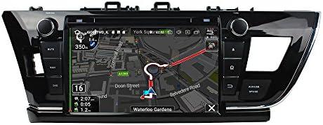 KUNFINE Android 9.0 8核自動車GPSナビゲーション マルチメディアプレーヤー 自動車音響 トヨタ TOYOTA COROLLA 2014 2015 自動車ラジオハンドル制御WiFiブルースティスト