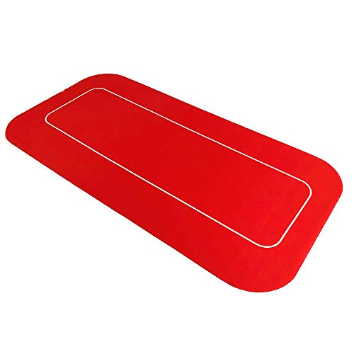 YH Poker 70' x 35' Portable Rectangle Sure Stick Rubber Foam Poker Table Top Layout Poker Mat (red, 70'x35')