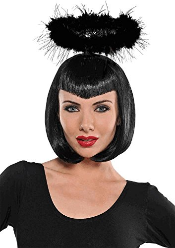 Amscan Black Marabou Halo Costume Accessory for Adults, One -