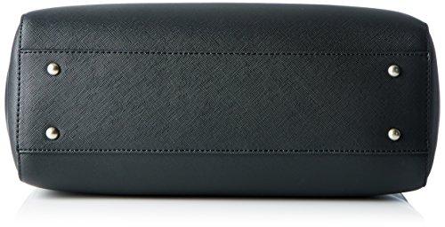 Sansibar Damen Henkeltasche, 13x23x33 cm Schwarz (Black)