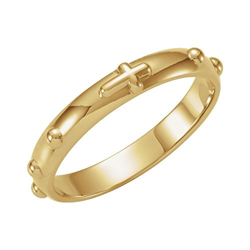 Jewels By Lux 10K Yellow Gold Rosary Ring Size 7