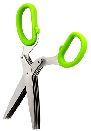 1Pcs Stainless steel 5 Layer Scissors Multifunctional Onion