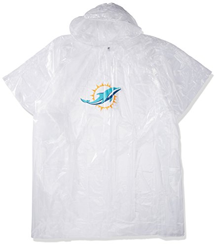 The Northwest Company Officially Licensed NFL Miami Dolphins Lightweight Clear Poncho