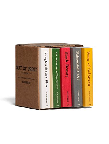 Out of Print Banned Books Matchbox Collectible Decorative Match-Box Set Wooden Matches