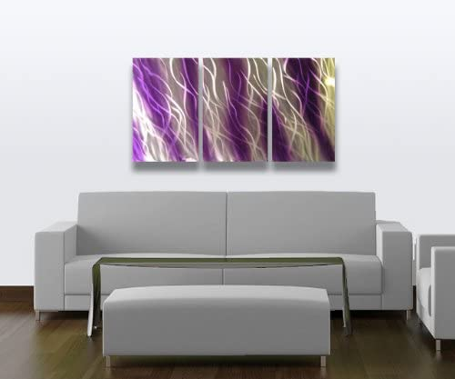 Miles Shay Metal Wall Art, Modern Home Decor, Abstract Artwork Sculpture- Purple Reef