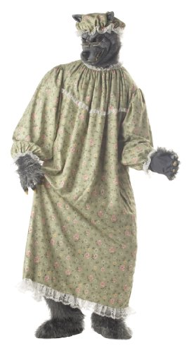 California Costumes Men's Wolf Granny Costume,Green,One
