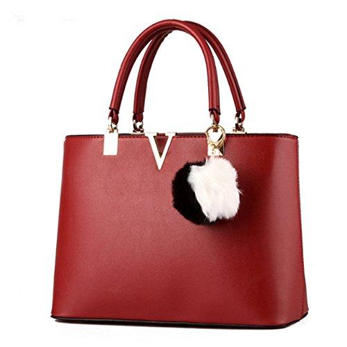 Red Hot Handbag Bag Messenger Tote Leather Faux Satchel Shoulder Women Ladies Wine Purse Crossbody New rqaxr6fAw