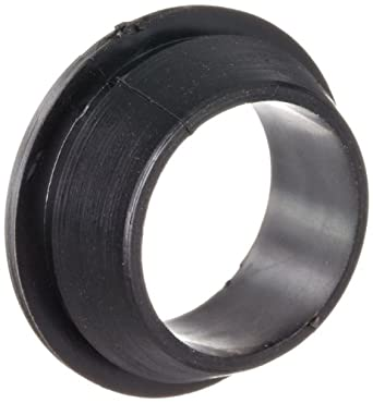 """PVC (Polyvinylchloride) Quick Fit Grommet, .85"""" OD, .32"""" Thickness for .06"""" Panel (Pack of 100)"""