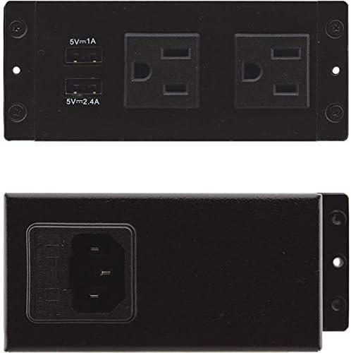 Kramer TBUS USA Two Power and 2 Charging USB Socket Black